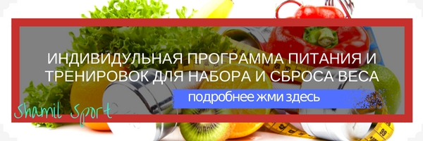 программа питания и тренировок от шамиля аслаханова